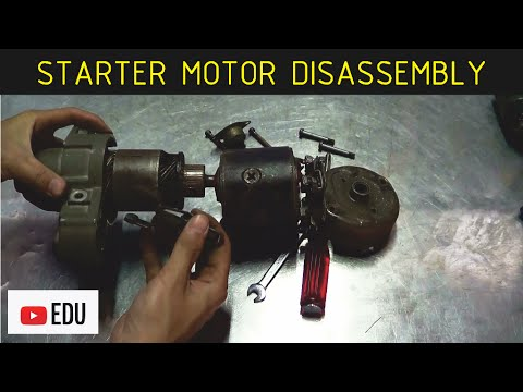 Cara Membongkar Motor Starter Konvensional