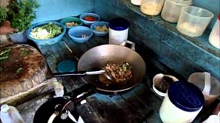 Thai Food - Thai Stirfried Pork With Holy Basil, Chilies And Garlic Made By Mrs. Kem On Koh Phangan