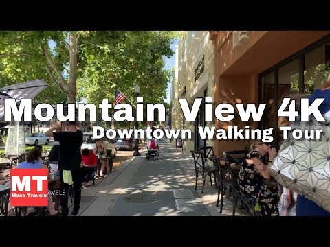 Mountain View, California - Downtown Walk USA | Home of the Google Campus 🏆