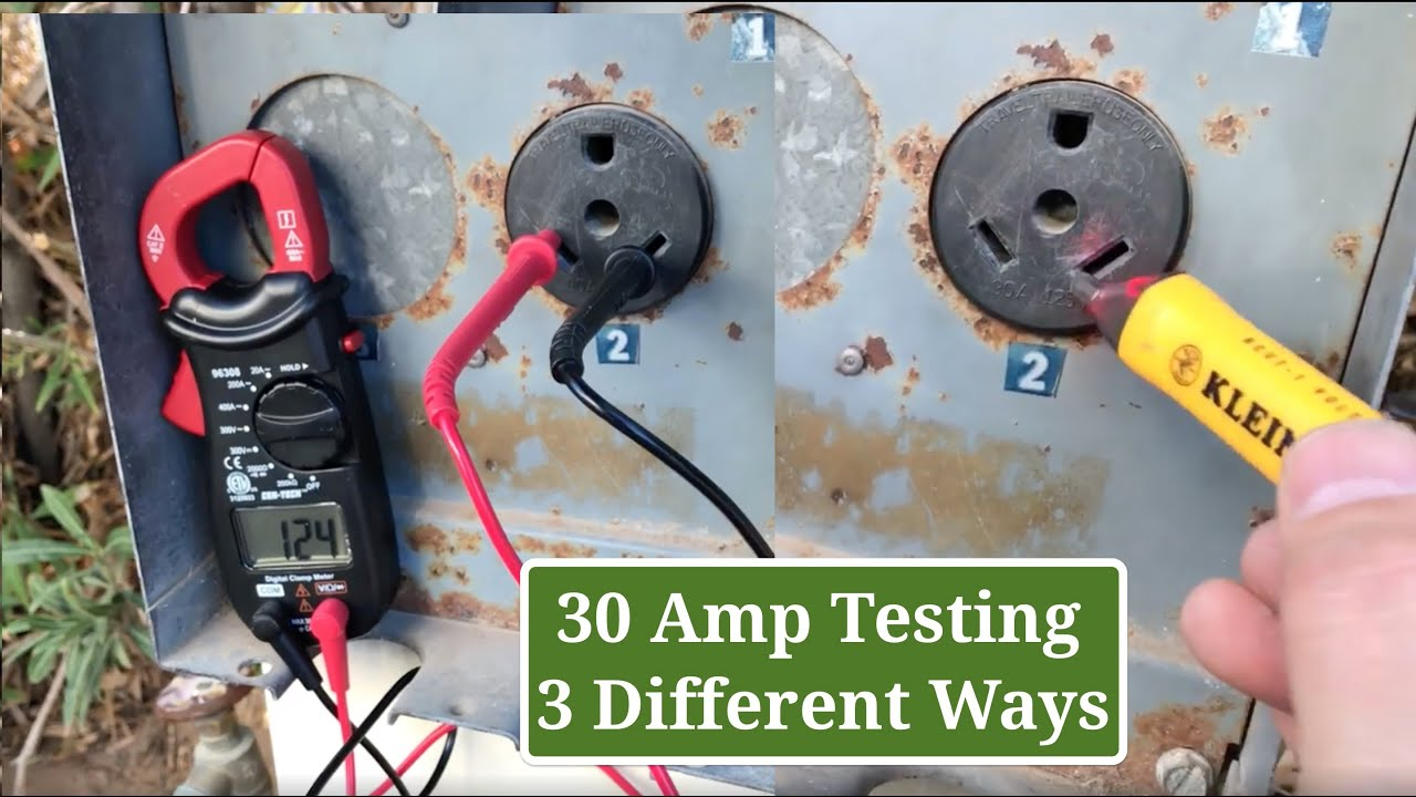 Quick 30 Amp Outlet Check  How To Test A 30 Amp Rv Shore Power