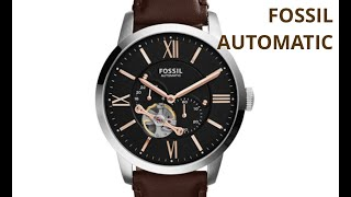 FOSSIL TOWNSMAN AUTOMATIC WATCH ME3061P - The Closer View