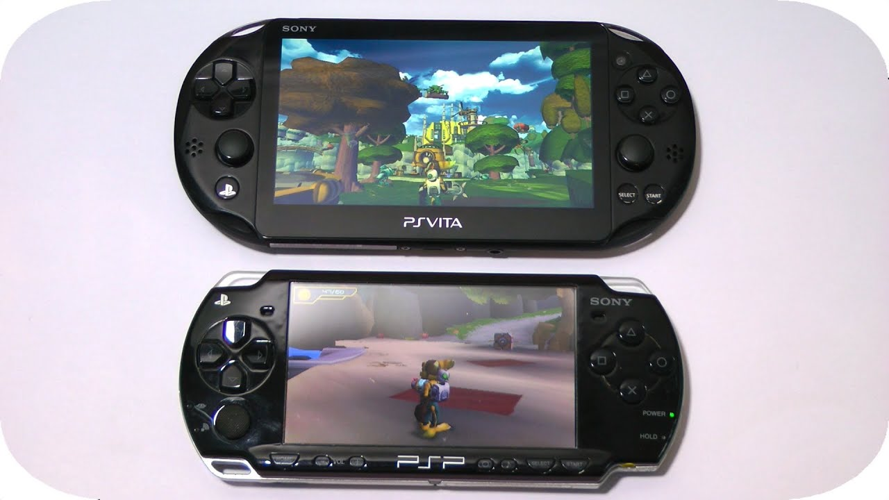 ps vita ratchet and clank trilogy vs. psp ratchet and clank size