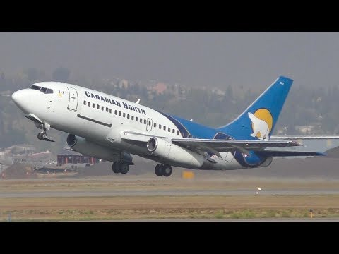 Canadian North 737-200 [C-GOPW] Landing And Takeoff At Calgary Airport