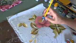 Parte 02 vídeo aula – Pintando rosas