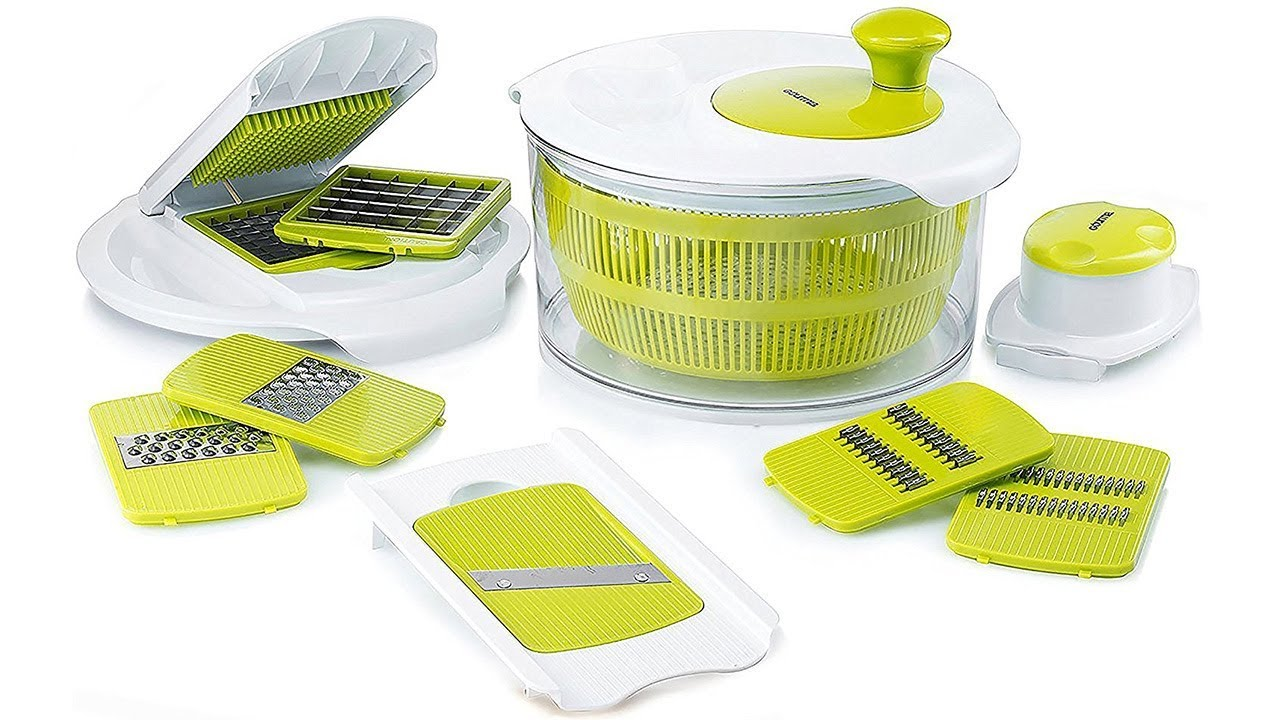 Salad Maker With 7 Interchangeable Blades Youtube