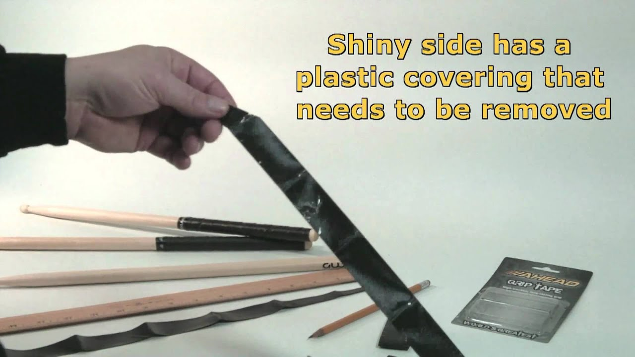 ahead grip tape big bang distribution wrapping a drum stick youtube. Black Bedroom Furniture Sets. Home Design Ideas