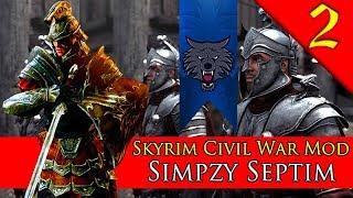 MASSIVE IMPERIAL VS. STORMCLOAK BATTLE! Mount & Blade Warband: Skyrim Civil War: Simpzy Septim #2