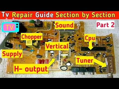 Samsung Tv Repair Guide ! Crt #Tv Problems And Solutions Complete Guide Section By Section