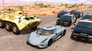 Extreme Police Chases Crashes&Fails #20 - BeamNG Drive