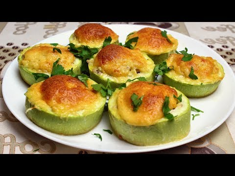 Кабачки с фаршем под сыром в духовке | ПП рецепт
