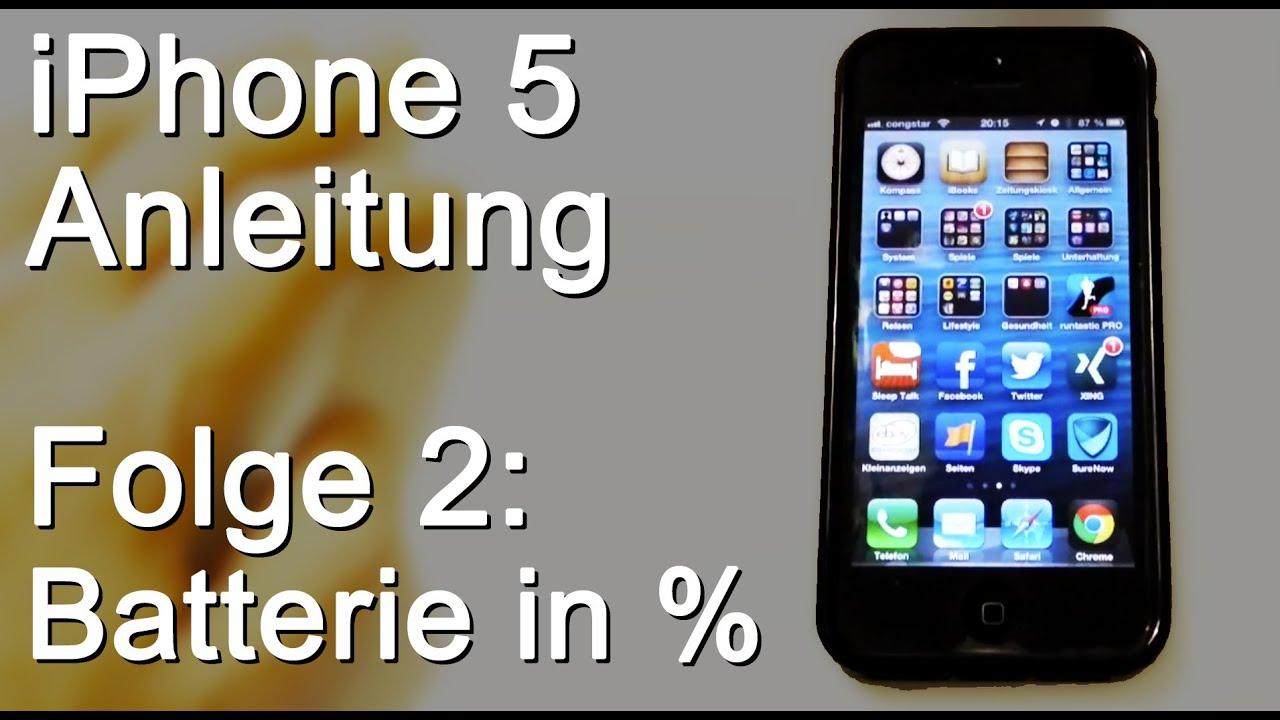 iphone xr batterie in prozent anzeigen