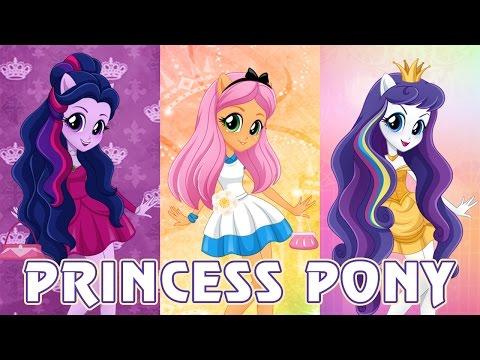 Девушки Эквестрии в образе Принцесс Диснея - игра одевалка Princess Pony