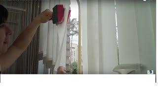 видео Как помыть горизонтальные и вертикальные жалюзи