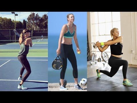 Maria Sharapova Amazing Workout and Practice 2018 - YouTube