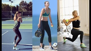 Maria Sharapova Amazing Workout and Practice 2018