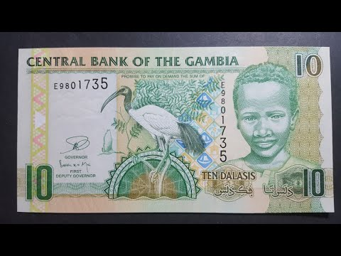 Gambia 5 and 10 dalasi banknotes