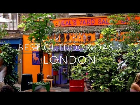 The Best of London -  Outdoor Oases, cool places to relax in the middle of London