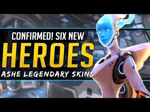 Overwatch Six NEW Heroes Confirmed! Ashe Legendary Skins, Doomfist NERF thumbnail