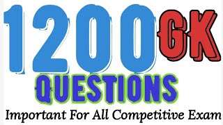 Important General Knowledge For All competitive Exam // 1200Random. Gk question
