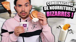 COMBINAISONS DE NOURRITURES BIZARRES ?!! JustJonathan