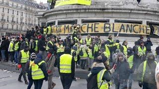 Paryż Żółte kamizelki 12 Acte. Gazowanie