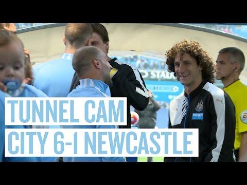TUNNEL CAM | City 6-1 Newcastle United