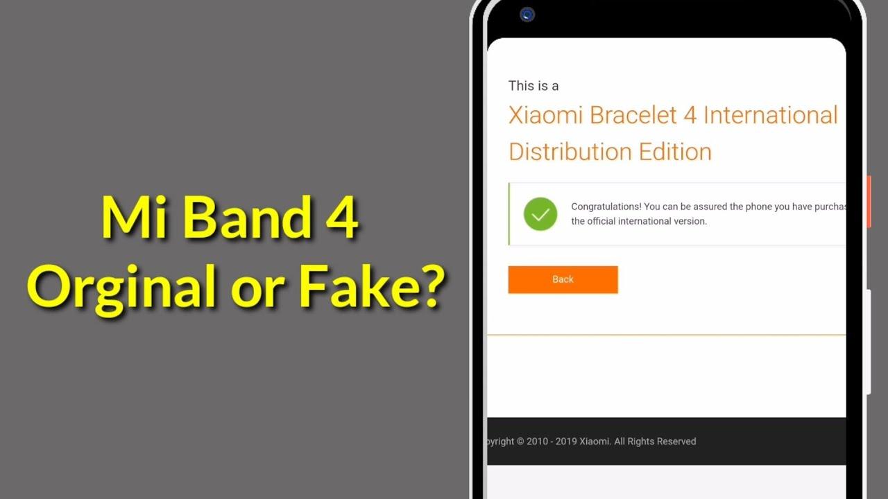 How to Check Mi Band 4 Orginal or Fake?