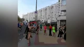 """Школа бальных танцев """"Сигма"""" на Минском полумарафоне 2018"""