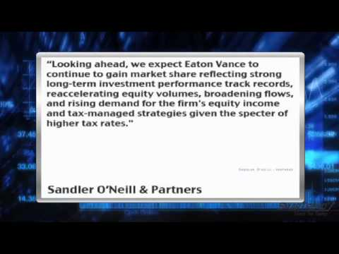 Sandler O'Neill Says Eaton Vance Has Reached Full Valuation (EV)