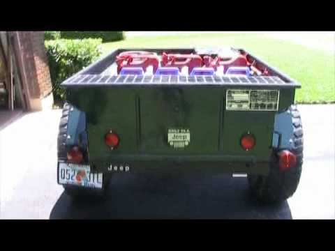 Modified M 416 Military Trailer Youtube