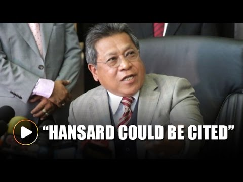 Speaker: Hansard could be cited by DOJ in US hearing