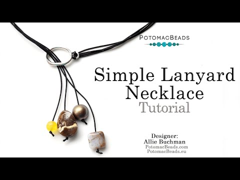 Boho Chic Simple Lanyard Necklace - DIY Jewelry Making Tutorial by PotomacBeads thumbnail