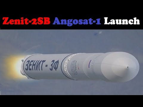 Russian Zenit-2SB Rocket Launches Angosat-1 Satellite