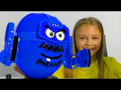 ВЛОГ Игра - надувные боксеры    Видео для детей
