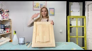 Как покрасить кухонный фасад. Меловые краски Chalk Paint от Annie Sloan. Paint Kitchen Cabinets.