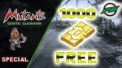 1000 GOLD for FREE!!!! | Mutants: Genetic Gladiators