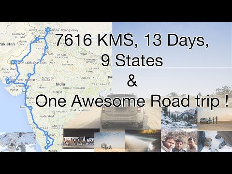 7616 KMS Roadtrip Coimbatore - Manali - Jaisalmer - Rann of Kutch, 13 Days for Snow Sand Salt