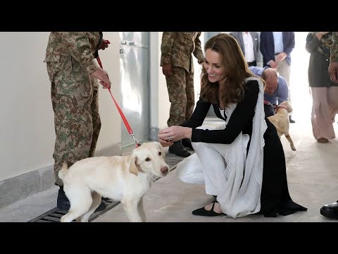 Duchess of Cambridge speaks of mid-air Pakistan 'adventure' as she thanks RAF for keeping them safe