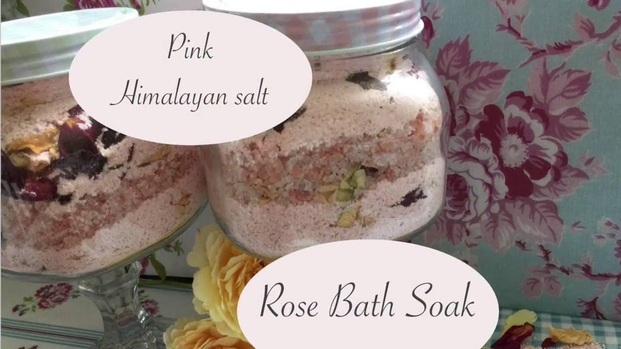 Diy Pink Himalayan Salt Amp Rose Bath Milk Recipe Youtube