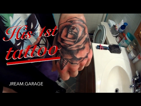 HIS FIRST TATTOO WAS A ROSE ON HIS HAND!
