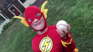 Lil' Flash. How to throw a baseball.