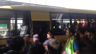 """BibekSheel fans greeting Nepal cricket team at airport. It all begins with a simple """"Thank you""""."""