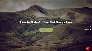 How to Style Dot Navigation with Joomla Website Builder Gridbox Video