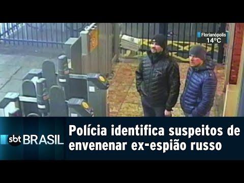 Polícia britânica identifica suspeitos de envenenar ex-espião russo | SBT Brasil (05/09/18)