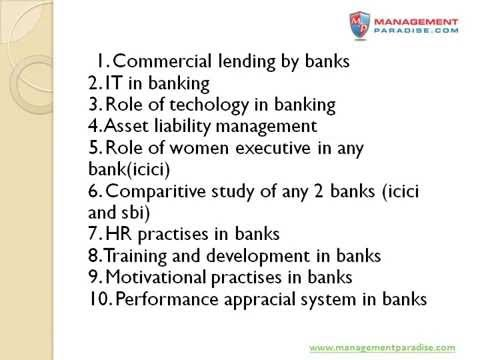 100 Marks topics for Banking and Insurance Projects