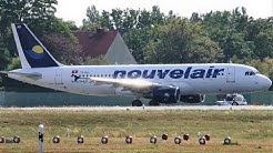 Nouvelair Tunisie Airbus A320-214 TS-INO Takeoff at Berlin Tegel Airport