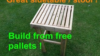 BUILD a side table/ stool (Pallet Up-cycle challenge 2015)
