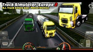 Truck Simulator: Europe 2 - Ford Cargo With Tanker Trailer (A.I. Truck Follow/ Enter Petrol Station) screenshot 5