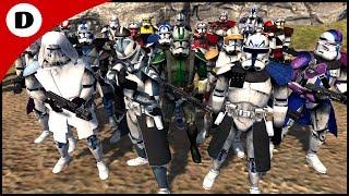 ALL Clone Commanders Ambushed by DOOKU - Men of War: Star Wars Mod
