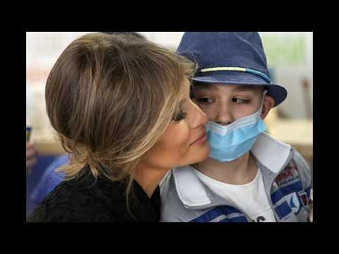 Melania Trump is engaged in charity in a foreign tour